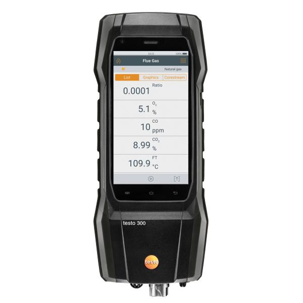 Testo 300 Domestic Flue Gas Analyser Black Edition