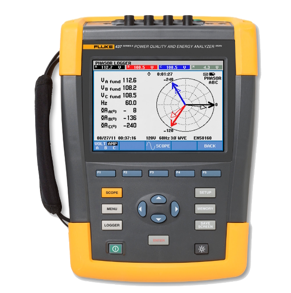 FLUKE 437-II Power Quality Energy Analyser - Test Equipment