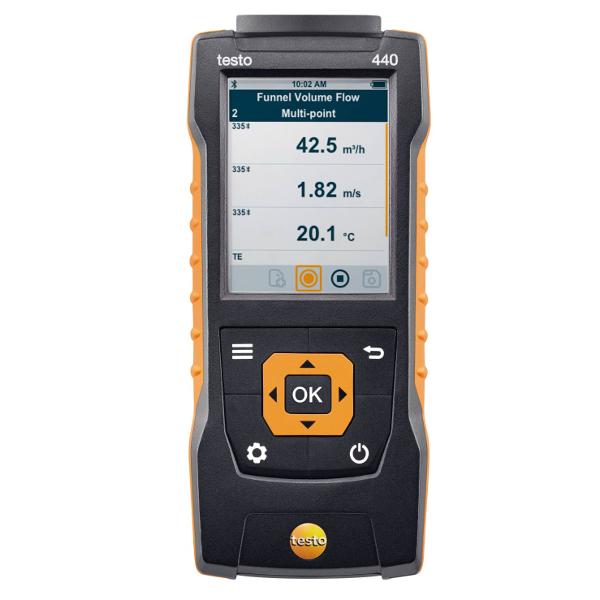 Testo 440 Air Velocity and IAQ Measuring Instrument
