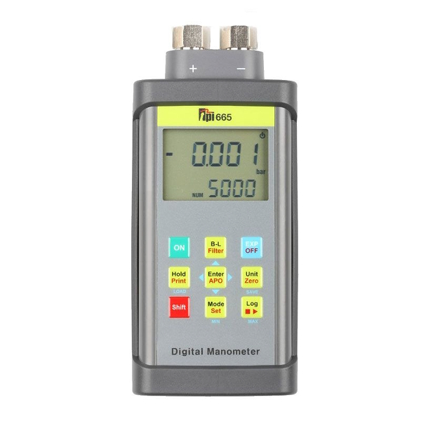 TPI Europe 665 Dual Input Differential Manometer