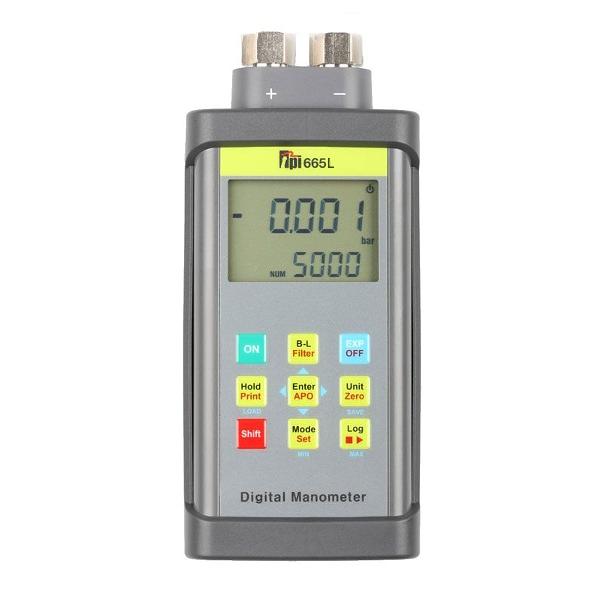 TPI 665L Dual Input Differential Manometer For Liquids