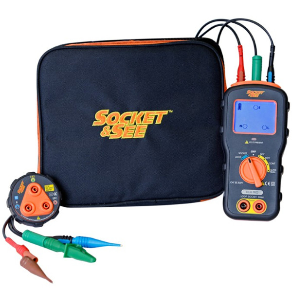 Socket & See DLMPRO Combined DMM, Loop and Socket Tester