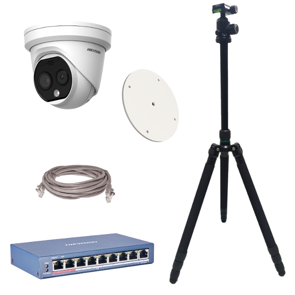 Hikvision DS-2TD1217B-6/PA DeepinView Body Temp Turret