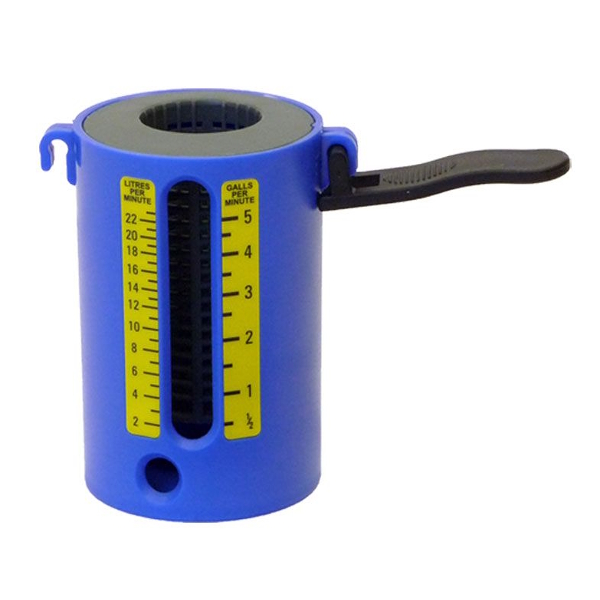 Anton Flowmate II Water Flow Weir Gauge With Thermometer
