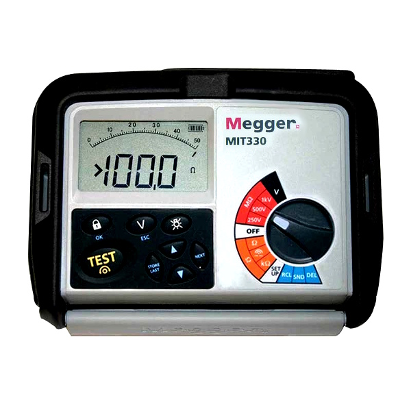 Megger MIT330 Digital Insulation and Continuity Tester for Electricians - Test Equipment
