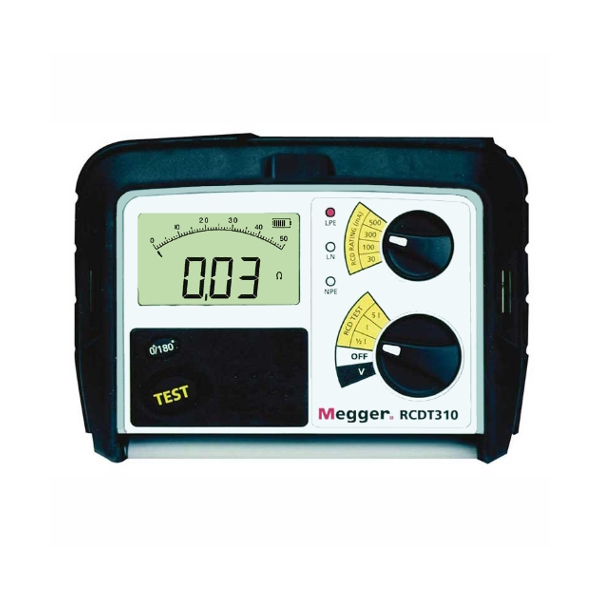 Megger RCDT310 RCD Tester for Electricians - Test Equipment