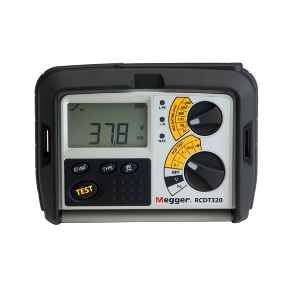 Megger RCDT320 RCD Tester for Electricians - Test Equipment